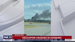 Firefighting helicopter crashes in Leesburg