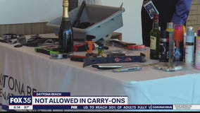 TSA reminds passengers of items not allowed in carry-ons