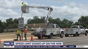 Speed limit going up on State Road 408
