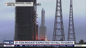 21-ton Chinese rocket part expected to fall to Earth
