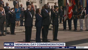 President Biden attends Memorial Day wreath-laying ceremony