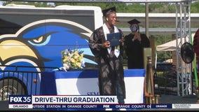Seminole State College holds drive-through graduation