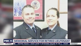 Memorial service held for retired firefighter
