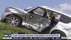 Car crash sends children to hospital