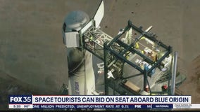 Jeff Bezos' Blue Origin auctioning off seat on its first crewed spaceflight
