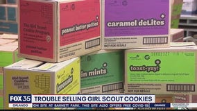 Trouble selling Girl Scouts cookies