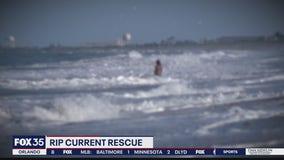 Rip current rescue in Daytona Beach