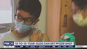 Kids 12 to 15 can now get Pfizer shot