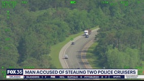 Sheriff in disbelief that man allegedly stole 2 police cruisers