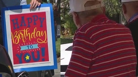 102-year-old WWII veteran honored with birthday parade