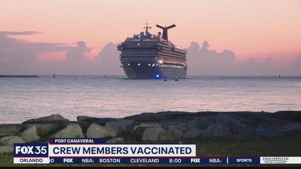Crew members of cruise ship Carnival Liberty vaccinated