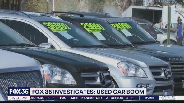 FOX 35 INVESTIGATES: Used car boom
