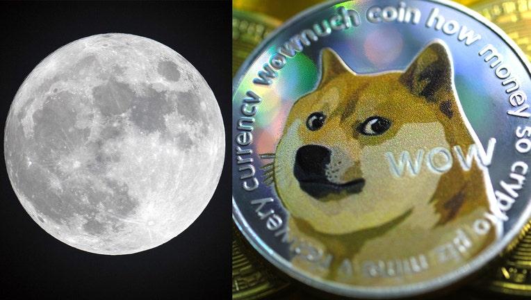 GETTY dogecoin moon 051021