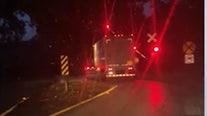 WATCH: Train slams into semi in Marion County