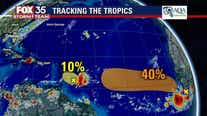 Hurricane forecasters track 2 disturbances in the Atlantic