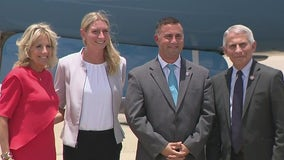 First Lady Jill Biden arrives in Orlando for vaccination event