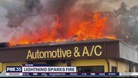 DeLand car repair shop recovering after fire