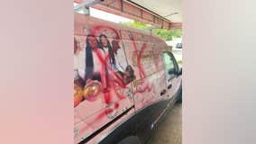 Man caught on camera spray-painting racist graffiti on van in Ocala