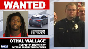 Daytona Beach Police identifies officer injured in shooting as manhunt continues for suspect