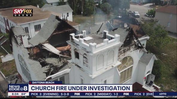 Crews demolishing Daytona Beach church following massive fire