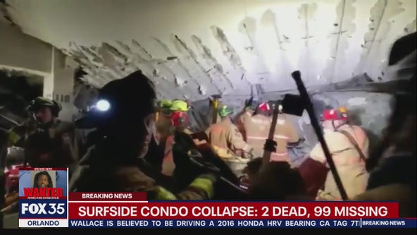 Surfside condo collapse: At least 2 dead, 99 missing