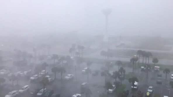 Sheets of rain as Tropical Storm Claudette hits Florida coast