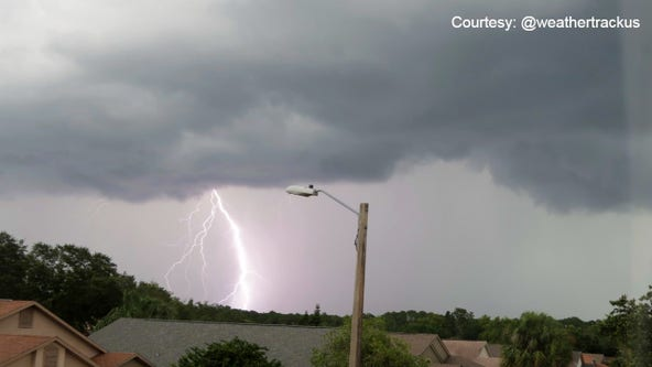 Thunderstorms bring torrential rain, lightning to Central Florida