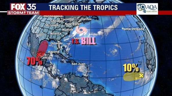 Tropical Storm Bill strengthens; 2 other systems being watched