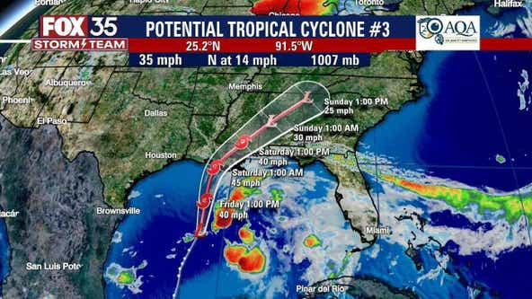 Tropical Storm Claudette expected to form in Gulf