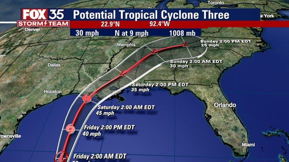 Forecasters track 'Potential Tropical Cyclone' in the Gulf of Mexico