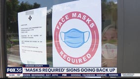 'Mask required' signs going back up in Orange County