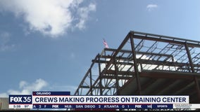 Topping ceremony held for Orlando Magic's new athletic training center