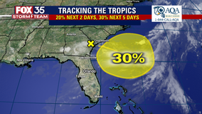 FOX 35 Storm Team watching area off Florida coast for possible tropical development