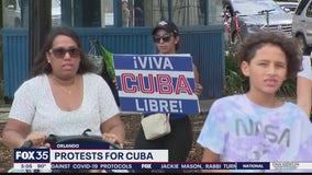 Protests in Orlando for Cuba