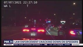 Law enforcement cracking down on speeders