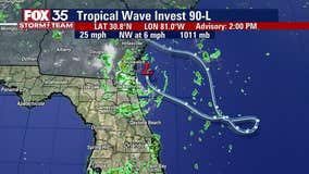 FOX 35 Storm Alert Day expires as low-pressure system off Florida coast lifts north