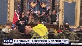 1st Capitol rioter sentenced in felony case gets 8 months