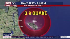 Magnitude 3.9 'experimental explosion' rattles Florida coast