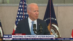 Biden calls on GOP to protect voting rights
