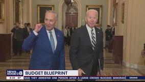 President Biden meets with Senate Democrats on budget talks