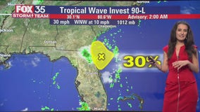 Tracking the Tropics: System to bring rain to Florida Monday