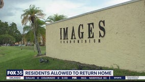 Residents allowed to return to complex with areas deemed unsafe
