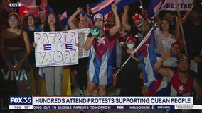 Hundreds attend Central Florida protests supporting Cuban people