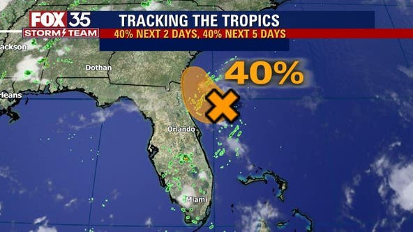 Monday declared FOX 35 Storm Alert Day; system has 40% chance to develop