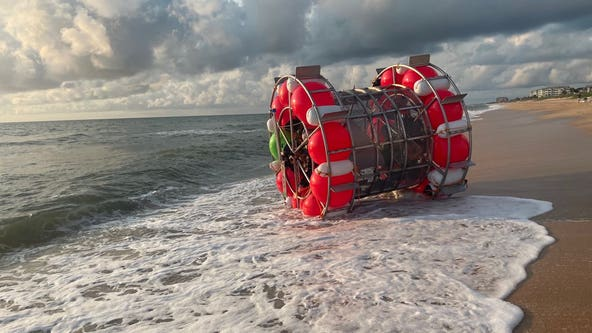 Strange vessel with person aboard washed ashore in Flagler County