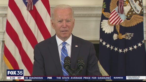 President Biden calling for action on his economic agenda