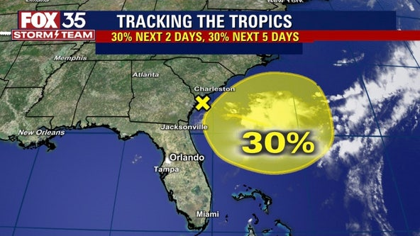 System with increased odds of development to bring rain to Florida