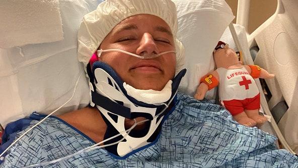 'He's smiling:' Teenage Flagler Beach lifeguard injured in 'freak accident'