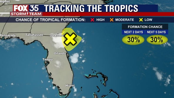 FOX 35 Storm Alert Day: System approaching northeastern Florida, will move inland and bring rain