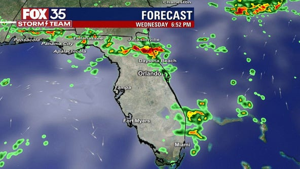 Storms quiet down after firing up across Central Florida on Wednesday